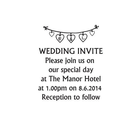 Wedding Invite stamp custom Wedding invitation by Stampitworldwide, £11.00