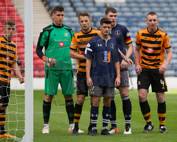 Queen's Park's players get set for a corner during the Ladbrokes League One game between Queen's Park and Alloa Athletic.