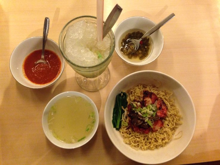 Delicious grilled chicken noodle one of signature menus of Bakmi Permata