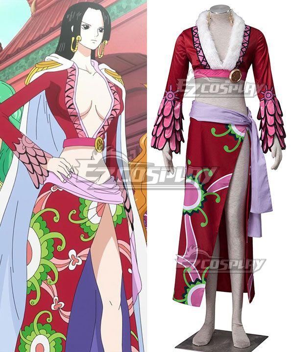 One Piece The Empress Boa Hancock Cosplay Costume