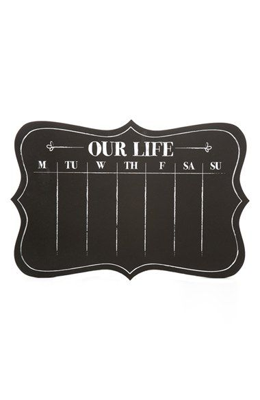 TWELVE TIMBERS 'Our Life' Chalkboard Calendar available at #Nordstrom