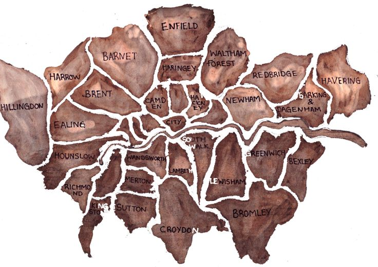Ink and Bleach London Map