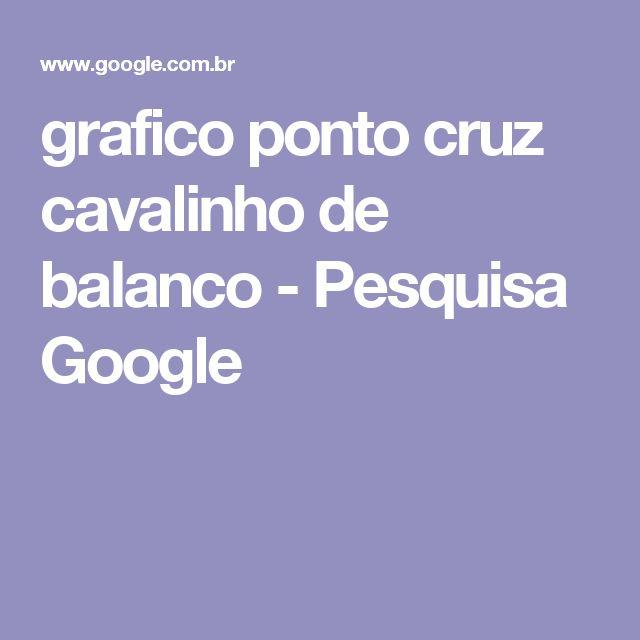 grafico ponto cruz cavalinho de balanco - Pesquisa Google