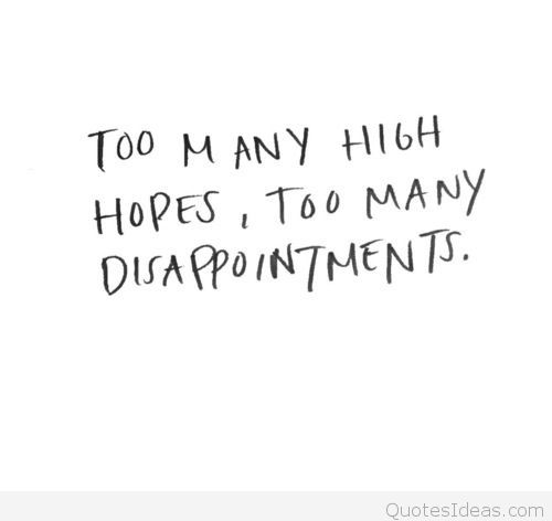 Disappointing Quotes