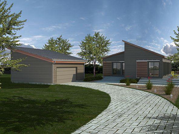 Grey lap with cedar details blu homes