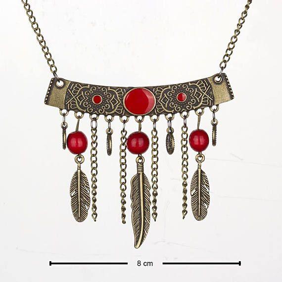 Ethnic necklace Tribal Necklace Bohemian necklace Boho