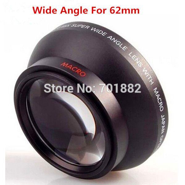 Объективы 62 мм 0.43X Супер Высокого Разрешения Делюкс Цифровые Объективы Широкоугольный Объектив Адаптер Конвертер для всех DSLR Камеры