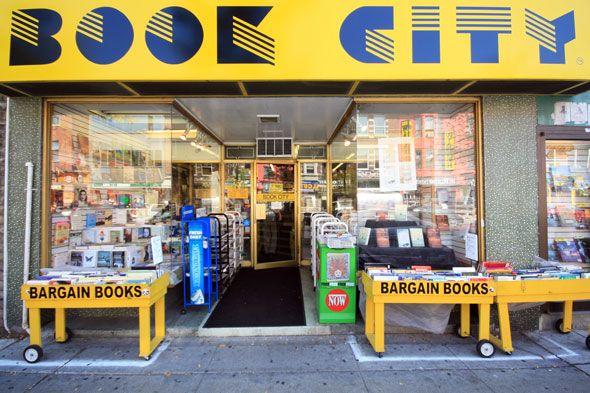 Book City, 501 Bloor Street West; 2350 Bloor Street West; 348 Danforth Avenue; 1950 Queen Street east; 1430 Yonge Street, Toronto.