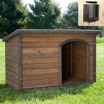 Heated dog house...looks WAY better than what my husband wants to build.