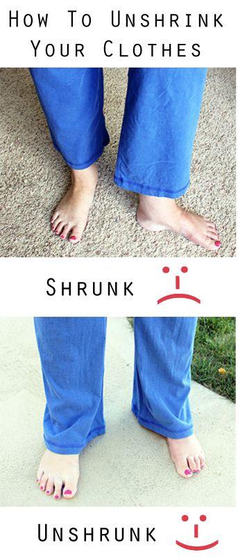 unshrink your clothes