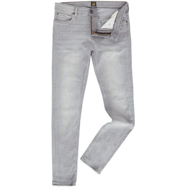 Lee Malone Skinny Grey Jeans (952.990 IDR) ❤ liked on Polyvore featuring men's fashion, men's clothing, men's jeans, men jeans, mens grey jeans, mens skinny fit jeans, mens gray jeans, mens grey skinny jeans and mens jeans