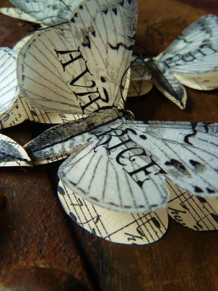 Book page and sheet music butterflies. Gloucestershire Resource Centre http://www.grcltd.org/scrapstore/