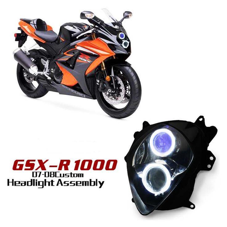 Suzuki GSX-R1000 Custom Headlight Assembly 2007-2008,Super bright LED angel eye