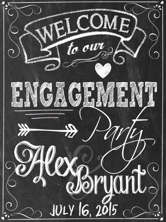 Welcome to our engagement party sign custom by CustomPrintablesNY