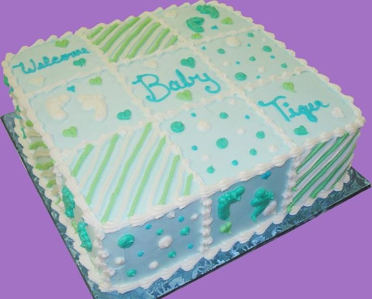 Baby Shower Sheet Cakes | Baby Shower Cakes | Sugar Showcase