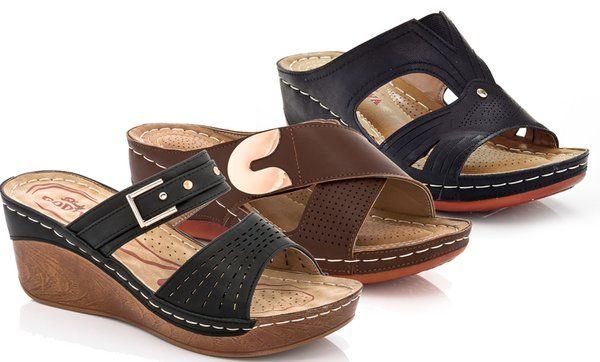 b31067d74c4 Lady Godiva Women's Comfort Wedge Sandals | Wedges | Sandals, Wedges ...