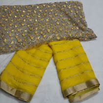 Pure chiffon sarees with designer Blouse | Buy Online Chiffo...