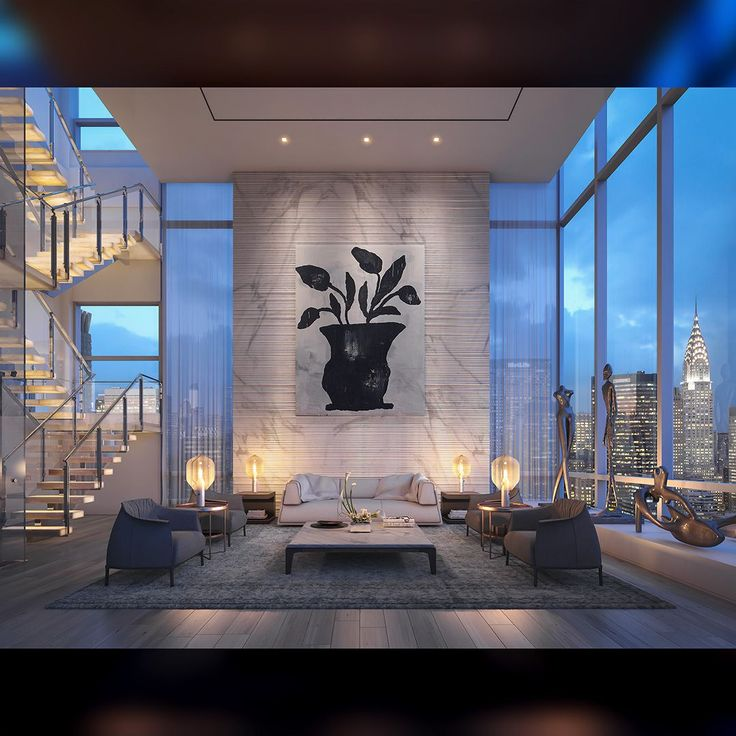 Every room needs a touch of black.  . . [repost] Madison Ave. Penthouse by ODA Architecture showing off an absolutely gorgeous black and white statement piece in the main hall overlooking New York City. . #interior #interiors #interiordecor #interiordesign #interiorstyling #classyinteriors #home #homedesign #homedecor #canvas #art #artwork #artforsale #print #luxuryinteriors #luxuryhomes #architecture #USA #interior4all #interior123 #interior125 #inspire_me_home_decor #NYC