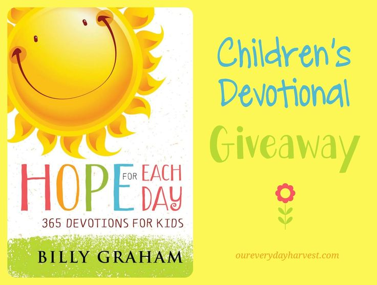 I truly believe every child needs a really good devotional to read as they take their journey in learning the word of God. Bill Graham's children's edition of Hope for Each Day is one that I can wholeheartedly recommend to parents who are...