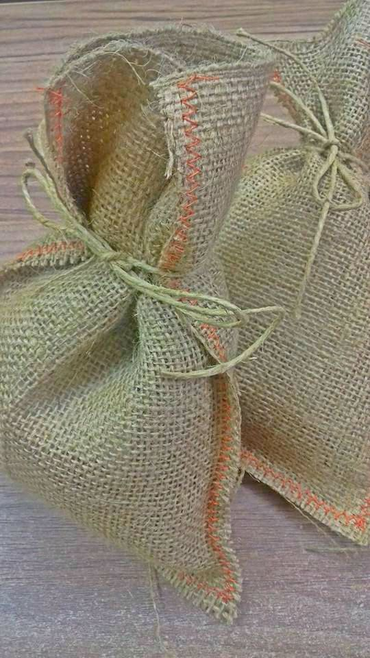 Handmade traditional style burlap bag 10 pieces great by Armenos