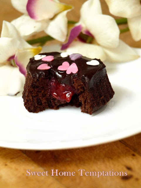 Sweet Home Temptations: Cupcakes para San Valentín (chocolate y frutos rojos)