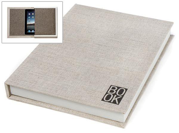 Book-shaped iPad case