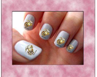 Best 25 usmc nails ideas on pinterest marine nails my marine usmc manicure marines nail art water slide transf ers cute military service united prinsesfo Images