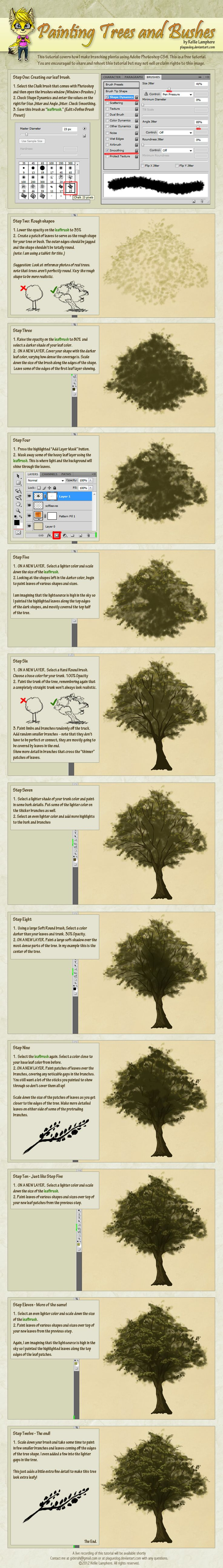 How to Digitally Paint Trees and Bushes Tutorial by Plaguedog.deviantart.com on @deviantART