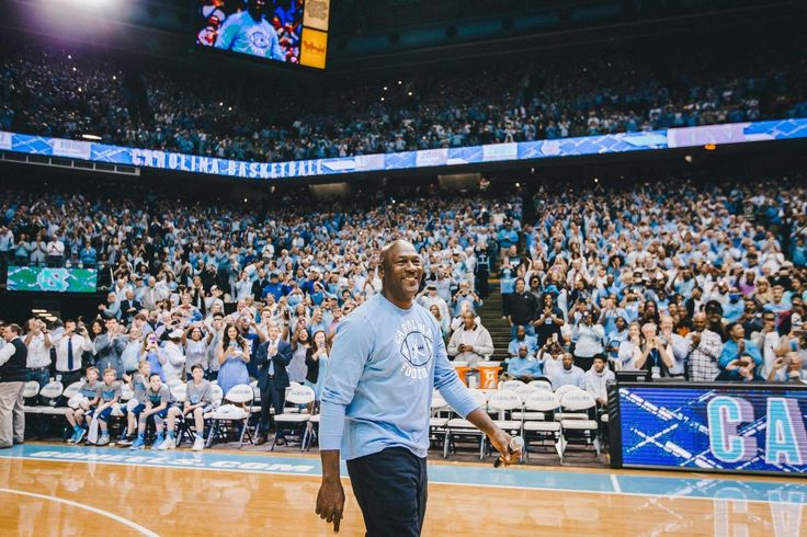The Tar Heels' successful and storied basketball history spans generations and includes numerous memorable moments like Michael Jordan hitting the game-winning shot for UNC in the 1982 National Championship game.  Now a new chapter in this celebrated partnership begins, as Jordan joined UNC head football coach Larry Fedora at halftime of the Carolina-Duke men's basketball game to officially announce plans to bring the Jumpman to Kenan Memorial Stadium this fall.