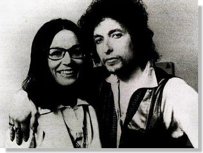 Bob Dylan with Greek singer Nana Mouskouri