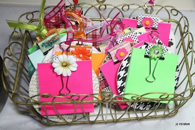 refrigerator magnet notepads from Michaels coasters and binder clips