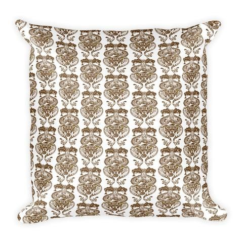 Brown Ink Traditional Pattern - Earthistik Pillow