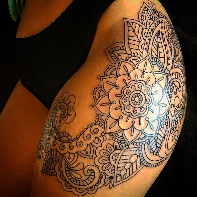 25 best ideas about henna thigh tattoo on pinterest