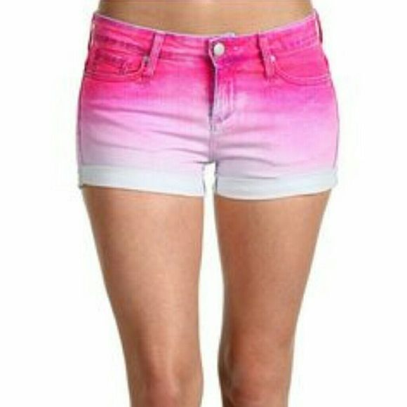"""Juicy couture Ombre Dip dye shorts size 27 Beautiful ombre pink """"juicy"""" shorts Waist measurement is 15 inches Thigh measurement is 19 1/2 inches  VERY COMFY AND STRETCHY! Juicy Couture Jeans"""