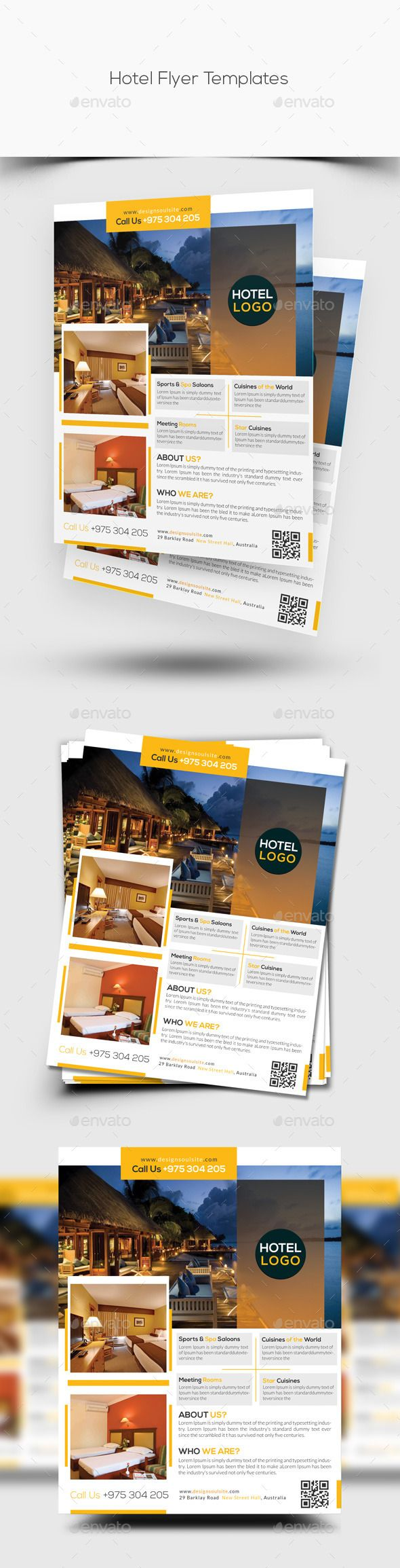 Hotel flyer template best flyer template and brochures ideas for Hotel brochure design templates
