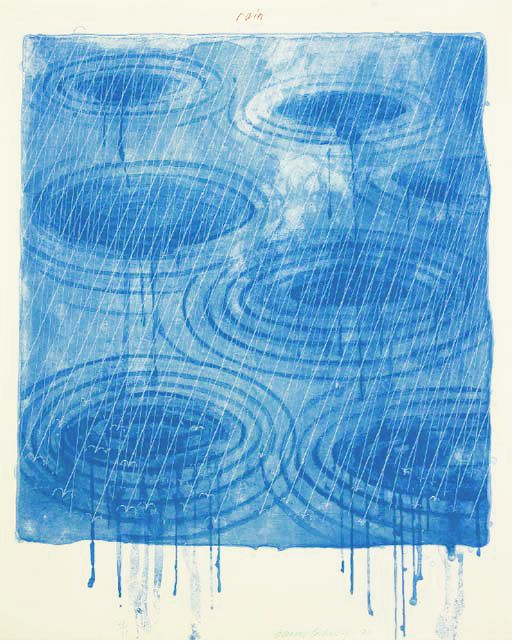 Rain. David Hockney