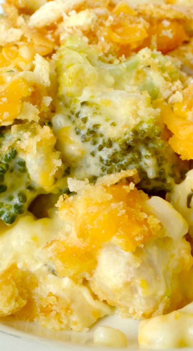 Chicken Broccoli Rice Casserole ~ Amazing casserole loaded with chunks of chicken breasts, fresh broccoli and rice in the creamiest, most flavorful sauce... Every bite is fabulous comfort food!
