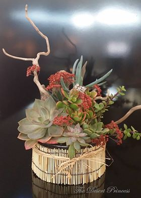 Succulent Floral Arrangement Design by The Desert Princess www.facebook.com/thedesertprincess1006