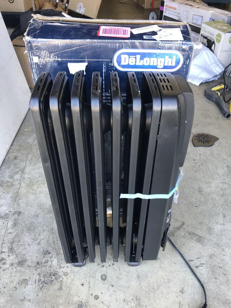 DeLonghi EW7507EB Oil Filled Radiator Heater Black 1500W