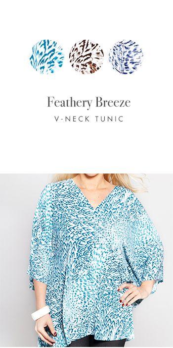 FEATHERY BREEZE V-NECK TUNIC http://www.kimco.ca/product/feathery-breeze-v-neck-tunic/