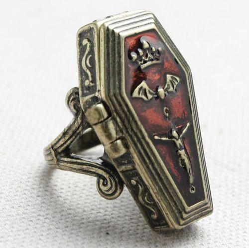 Vampire Coffin Ring. Stash Ring. Casket. by TheGreenGentleman