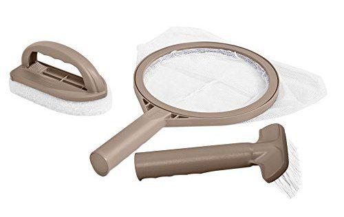 Intex 28004 Kit Entretien pour Spa: Kit d'entretien pour spa gonflable PureSpa compé de : Brosse incurvée pour nettoyer les parois…