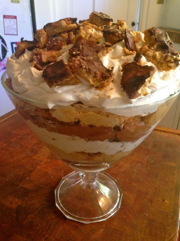 Chocolate Peanut Butter Trifle...yum!