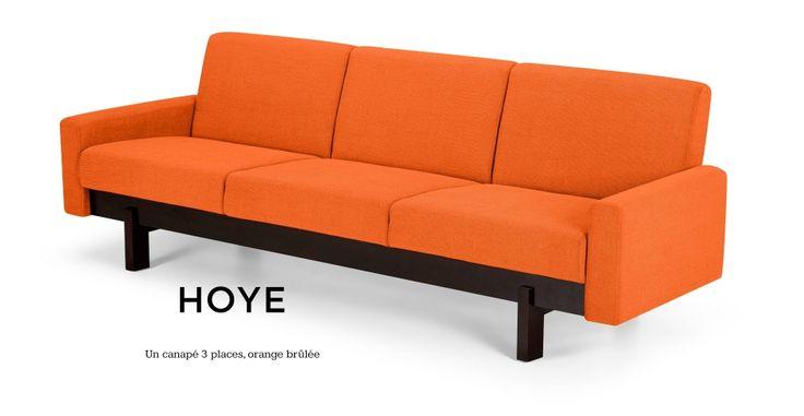Hoye, un canapé 3 places orange brûlée <3
