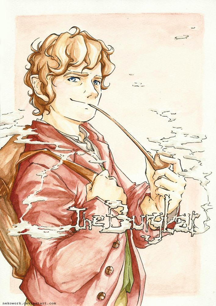 Bilbo Baggins by NekoWork on deviantART I adore detailed fanart. :) So beautiful and breath taking!