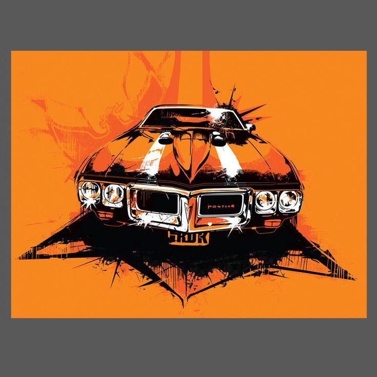 Image of Pontiac Firebird 9x12 Limited Edition Print