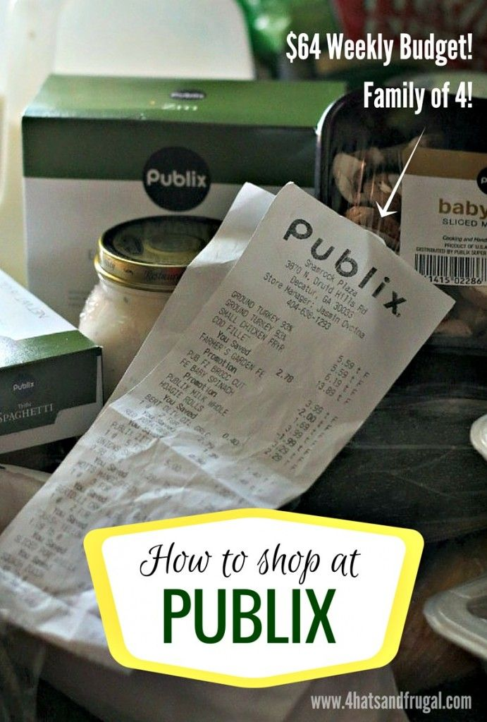 Looking to use your grocery budget wisely at Publix? Check out how this blogger used her 64 dollar grocery budget at the famous chain store.