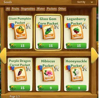 L'Oasi nel Deserto: Pacchetti di semi. Trucchi Farmville 2