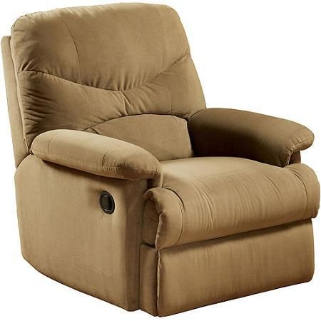 Furniture Rooms Chair Oakwood Microfiber Recliner Light Brown - Chairs