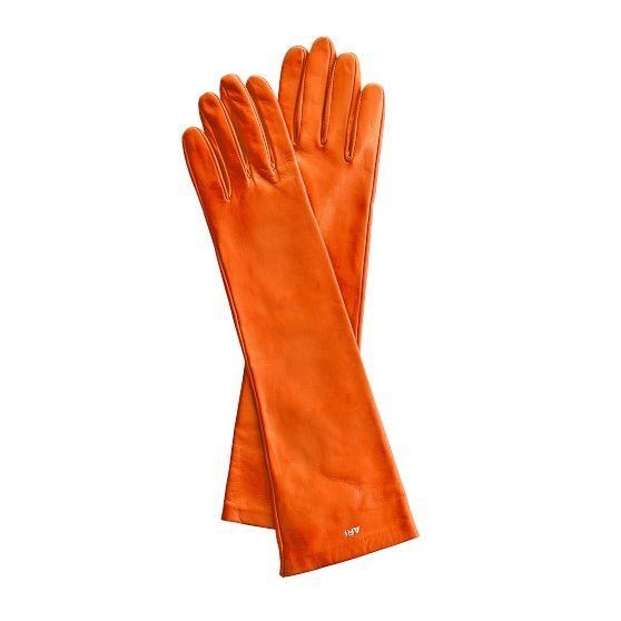 Kid skin orange gloves | Mark and Graham